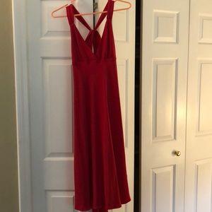 🎉closet clear out! J. Crew red silk dress!